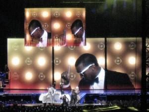 Madonna en pleno espectáculo de Imagen y Sonido